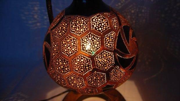 Handmade Gourd Lamps Robert Dziura Designose
