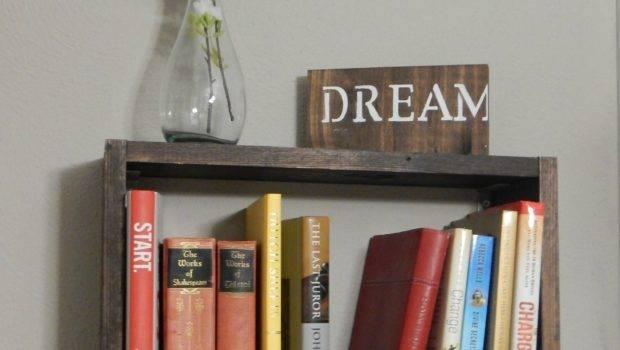 Hanging Book Shelf Sawdust Sequins