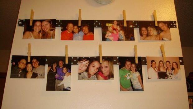 Hanging Ribbon Clothes Pins Frame