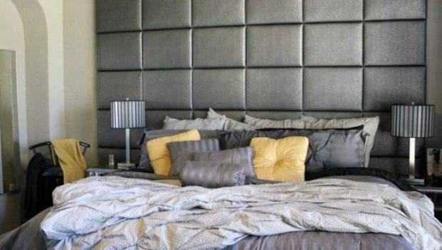 Headboard Wall Gray Faux Leather Panels Upholstered