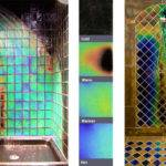 Heat Sensitive Shower Tiles Change Colours Warms