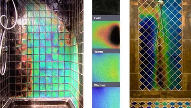 Heat Sensitive Shower Tiles Change Colours Warms