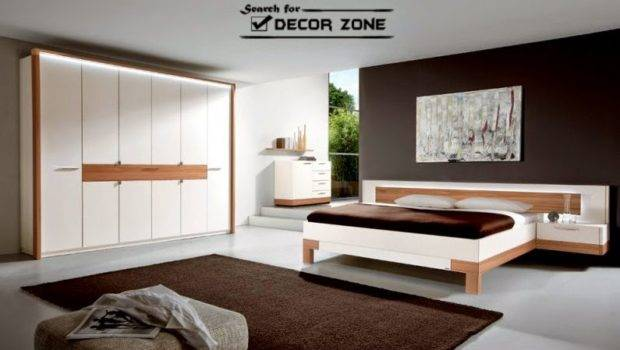 High Tech Bedroom Designs White Furniture Wooden Touch