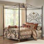 Hillsdale Furniture Stanton Queen Canopy Bed Set Matching Side Rail