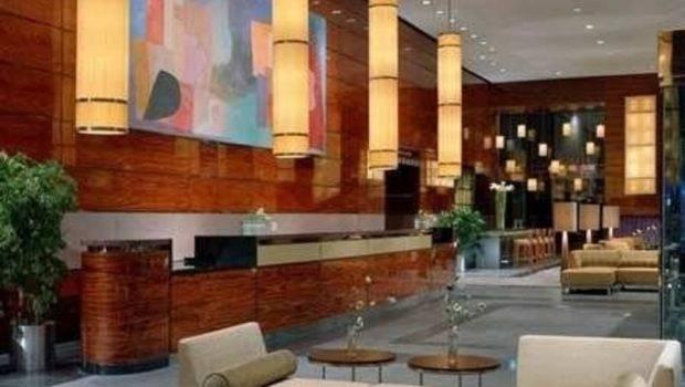 Hilton Hotel Interior Lobby Stay New York Design