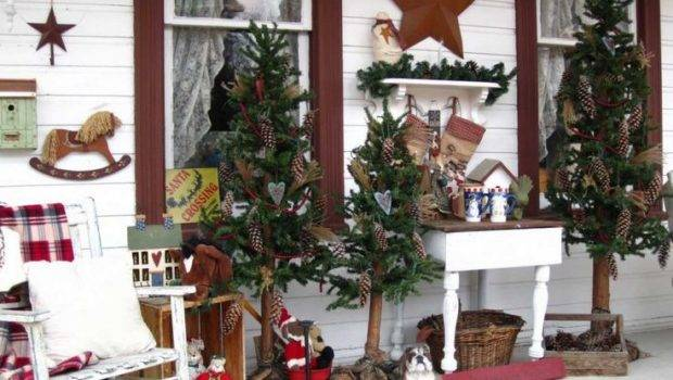 Holiday Decor Christmas Front Porch Ideas Pinterest