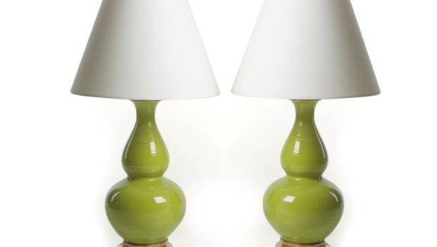 Home Christopher Spitzmiller Aurora Double Gourd Lamp Chartreuse