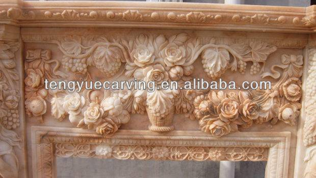 Home Decorative Natural Stone Fireplaces Fireplace Mantel Fps