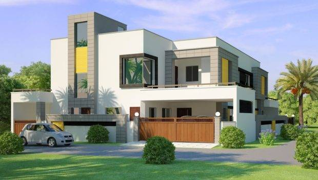 Home Design Front Elevation Modern House Decorating Ideas