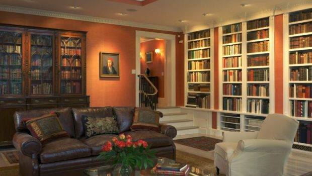 Home Library Design Saccoccio Associates Cranston