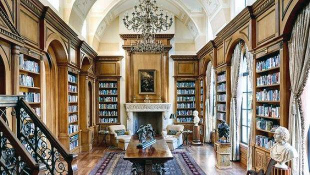 Home Library Ideas Men Private Reading Room Designs