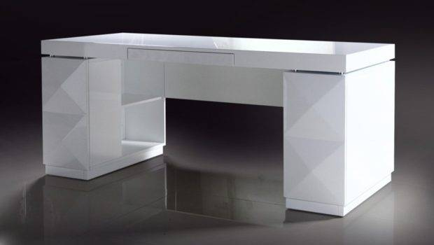 Home Modern White Lacquer Office Desk