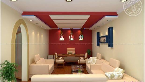 Home Office Interior Design Siraj Kerala Plans