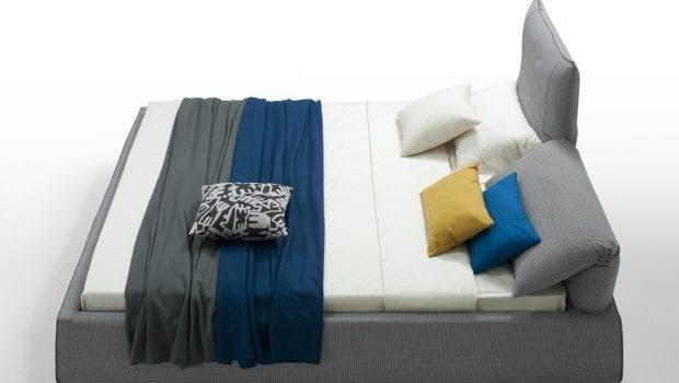 Home Otago Modern Grey Fabric Eastern King Bed Adjustable Headrests