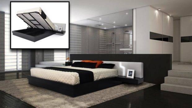 Home Torino Modern Platform Eastern King Bed Storage