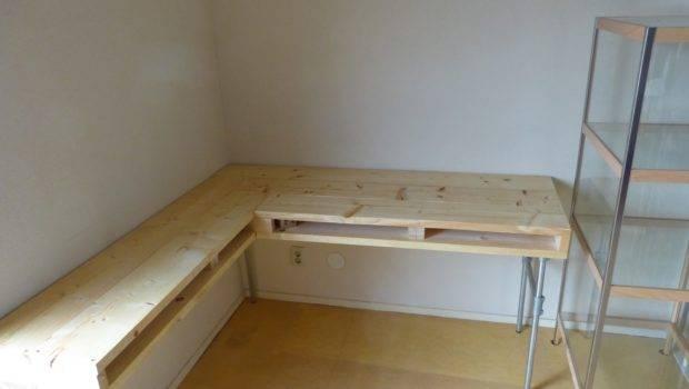 Homemade Desk Scaffolding Wood