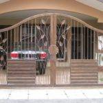 Homes Iron Main Entrance Gate Designs Ideas Modern Desert