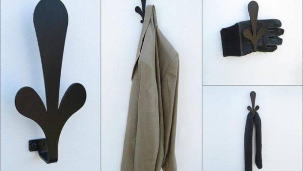 Hooks Coat Wall Mounted Shelf Heavy Duty