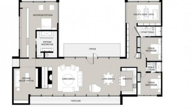 Horseshoe Shaped House Plans Homes Floor