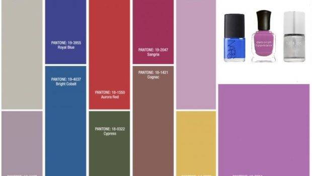 Hot Nail Polishes Match Pantone Fall Colors