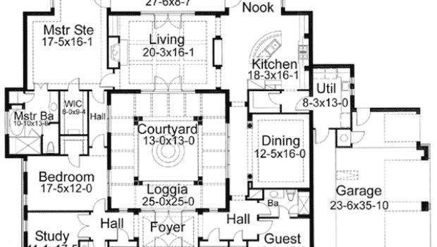 House Plans Courtyards Smalltowndjs