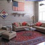 House White Flat Brick Wall Tiles Teenage Bedroom