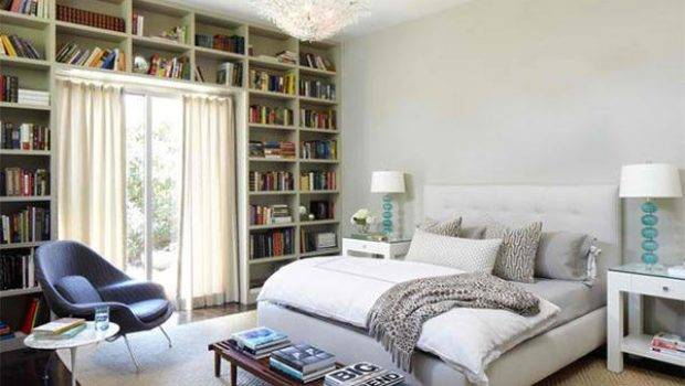 Ideas Designing Bedroom Bookshelves Home