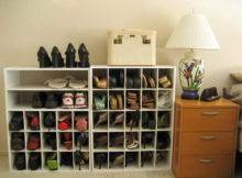 Ideas Hanging Closet Shoe Storage Organizers