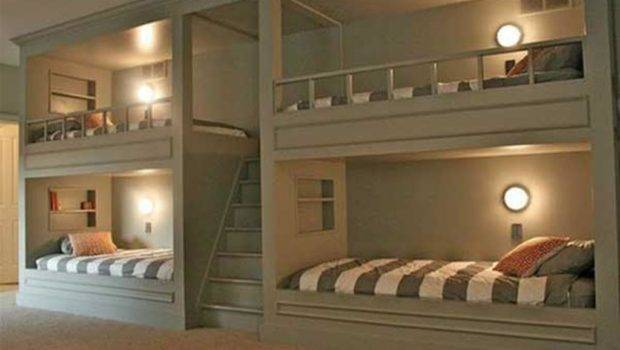 Ideas Kids Rooms Bunk Beds Stairs Small House Designs Decorating Bed