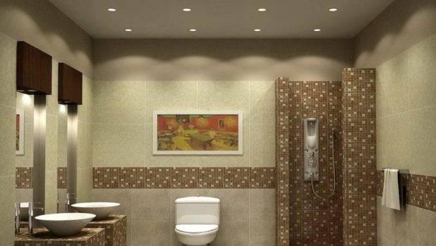 Ideas Small Spaces Ceramc Tle Bathroom