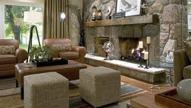 Indoor Classic Design Stone Fireplace