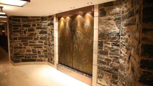Indoor Wall Waterfalls Homes Backyard Design Ideas