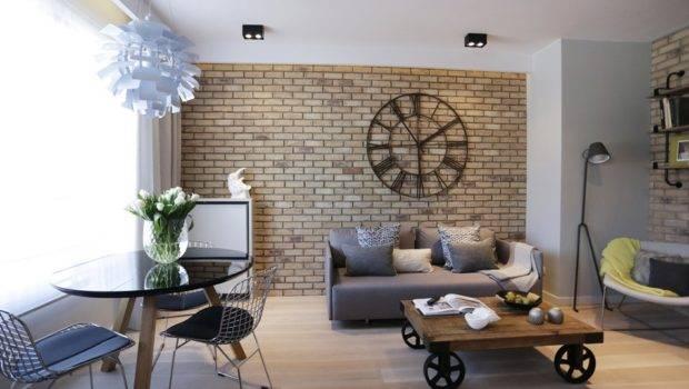 Industrial Apartment Warsaw Exhibiting Clean Elegant Design