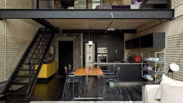 Industrial Loft Design Brick Like Walls Digsdigs
