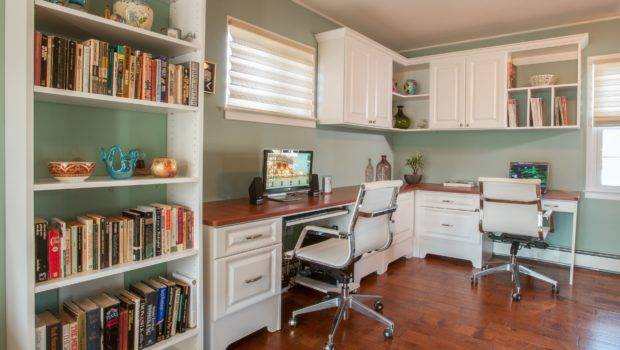 Innovative Two Person Desk Home Office Using