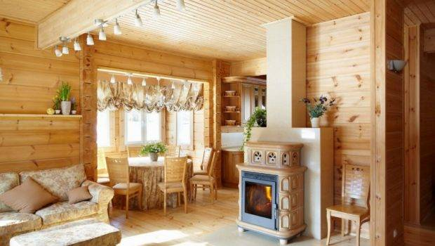Inside Cosy Finnish Wooden House Rovaniemi Log Houses