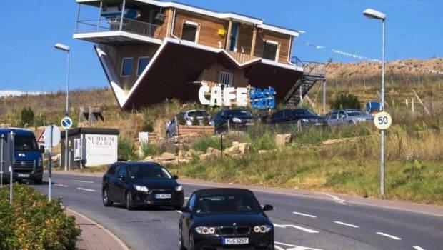 Inside Germany Upside Down Cafe House Toppels Zricks