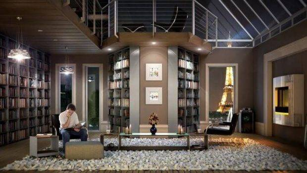 Inspirational Home Libraries Apartment Geeks