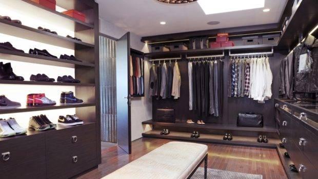 Inspirational Walk Closet Added Shoes Racks