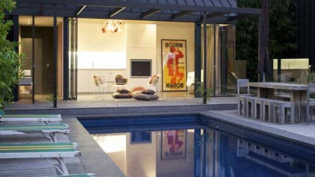 Interior Contemporary Pool House Design