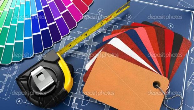 Interior Design Architectural Materials Tools Blueprints
