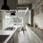 Interior Design Concrete Apartment Kitchen