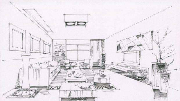 Interior Design Sketches Living Room