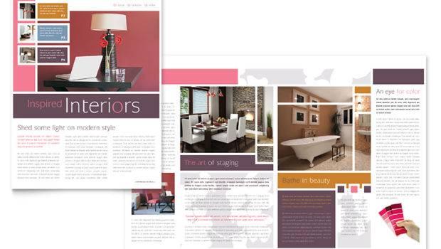 Interior Designer Newsletter Template Word Publisher