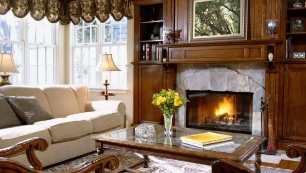Interior Hall Fireplace