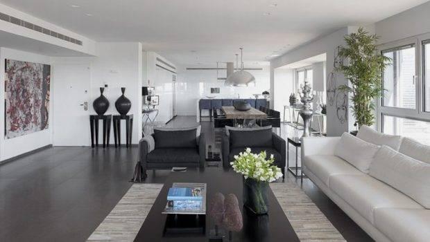 Interior Modern White Gray Apartment Design
