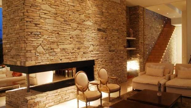 Interior Stone Wall Modern Calming Interiors