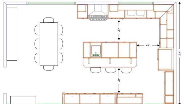 Island Kitchen Layout Designs