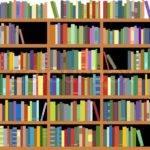 Isolated Bookshelf Vector Colourbox