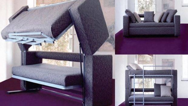 Italian Space Savers Convertible Sofa Bunk Bed